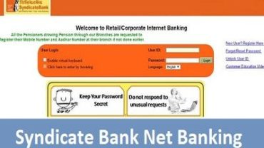 Syndicate Bank Net Banking